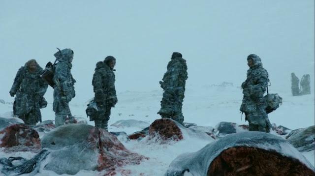 los salvajes encuentra la masacre del puño de los primeros hombres - Juego de Tronos en los siete reinos
