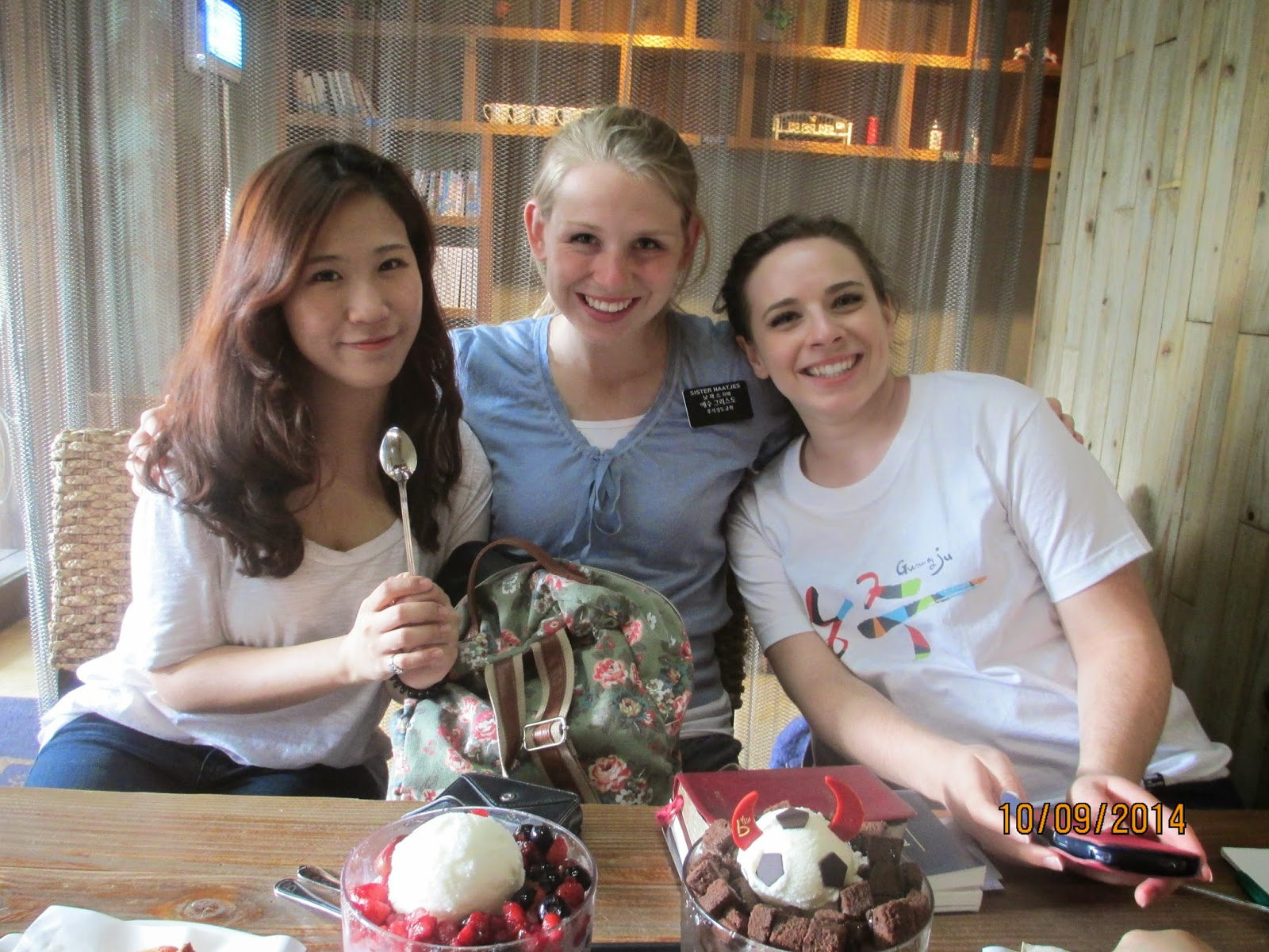Me with 신동현 and Chloe (a girl in our ward from Colorado!)