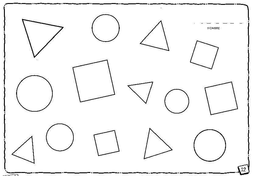 Maestros De Corazon Laminas Para Trabajar Figuras Geometricas