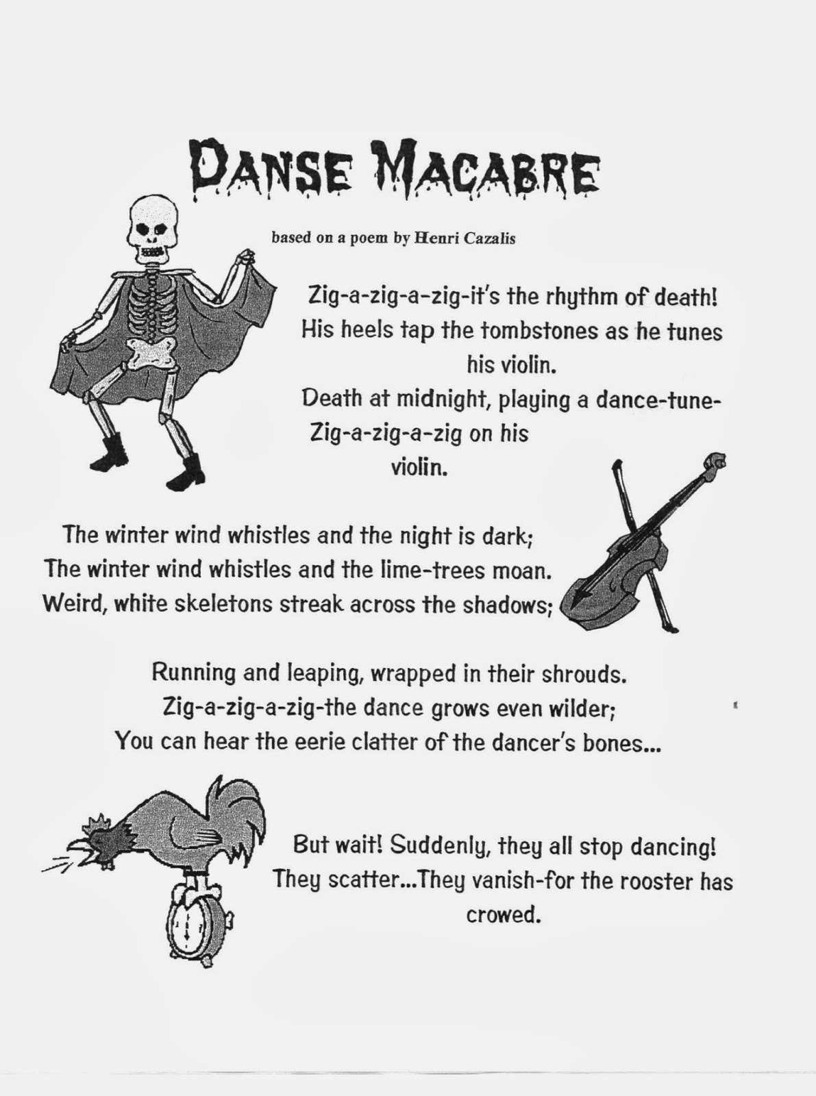 nhcs music education danse macabre mood i this poem in parts and have students it back to me students are asked to give me words to describe the mood we then watch and listen to danse