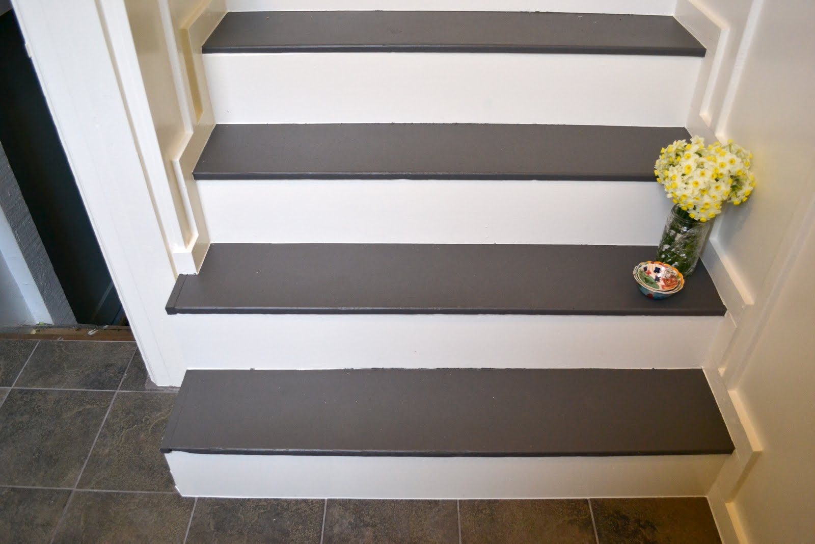 Best Paint For Stairs A Home In The Making Renovate Back Entry Sources A Lesson