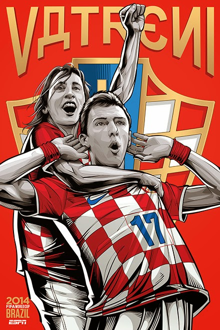 Poster keren world cup 2014 - Croatia