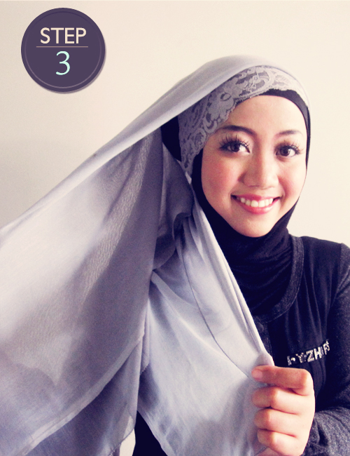 Hijab Itu Indah : 5 Cara Praktis Pakai Hijab Segi Empat Moder