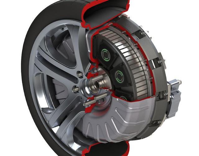 Brabus wheel hub mounted electric motor