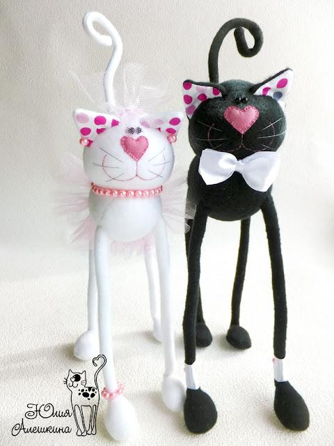 Свадебные котики. Горошковые ушки - в полный рост