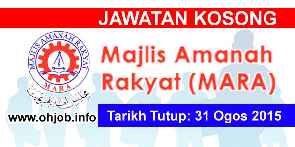 Jawatan Kerja Kosong Majlis Amanah Rakyat (MARA) logo www.ohjob.info ogos 2015