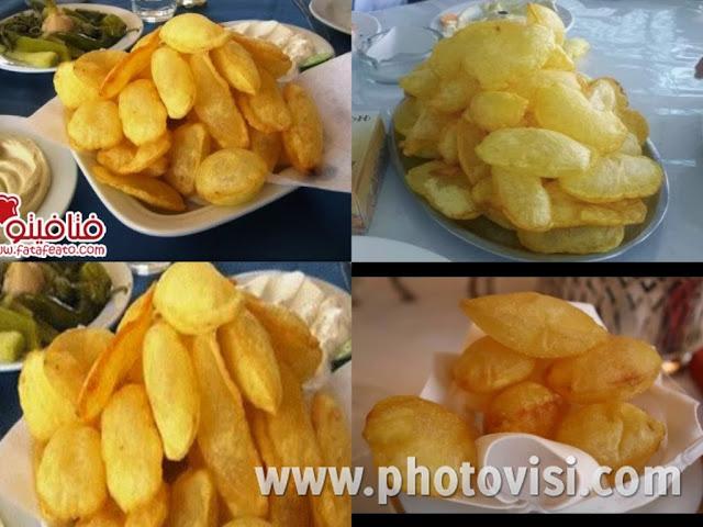 البطاطس الشيبس المنفوخة