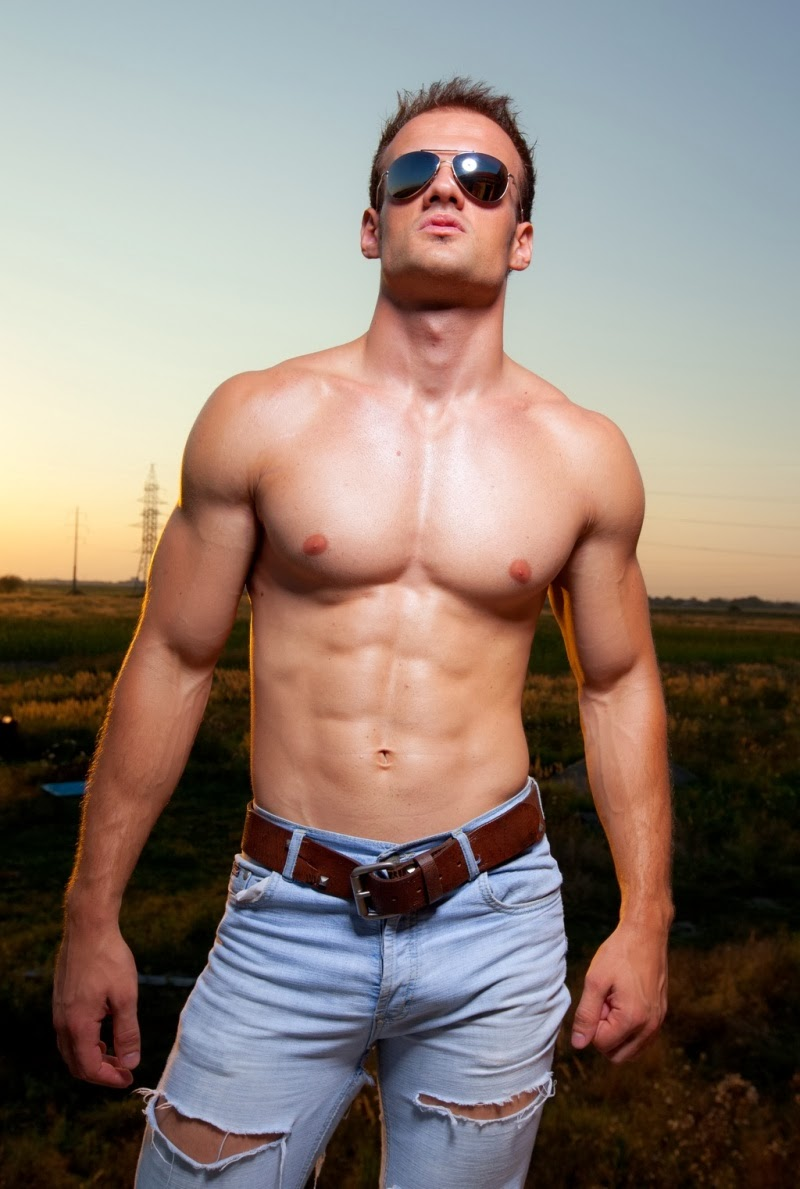 hot guy in jeans sexy bulge