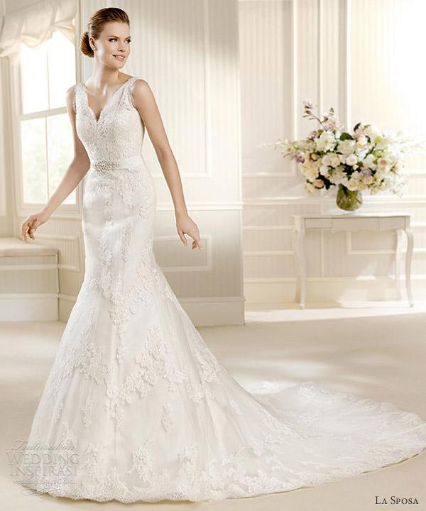 Vestido novia tirante encaje