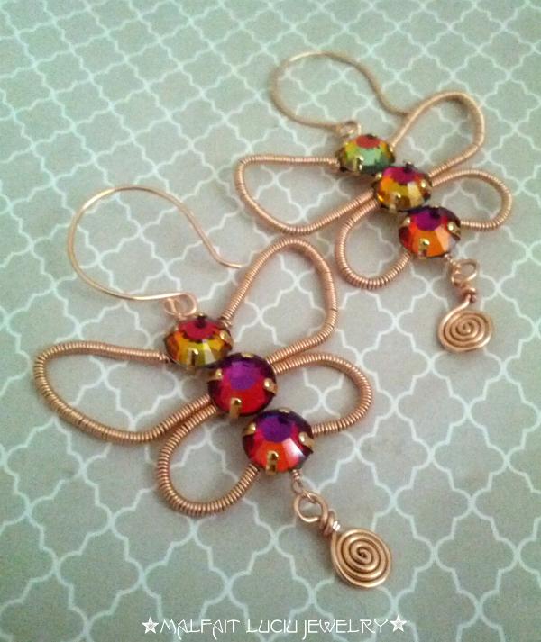 Malfait luciu free tutorial papillon earrings for Tutorial papillon
