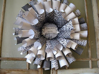 Handcrafted paper wreath The Pickled Hutch