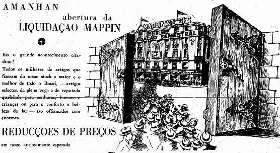 Propaganda do Mappin em 1936 - Liquidação