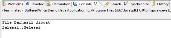 Menulis File di Java Menggunakan BufferedWriter