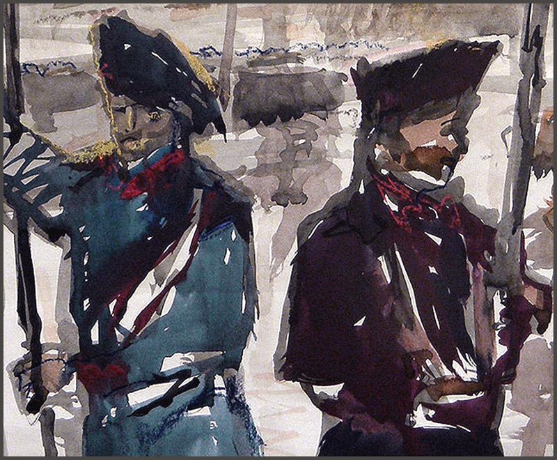 1714-CATALUNYA-EXERCIT-UNIFORMES-SOLDADOS-EJERCITO-PINTURA-PINTOR-ERNEST DESCALS-