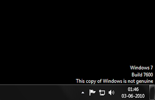 Windows 7 is Not Genuine