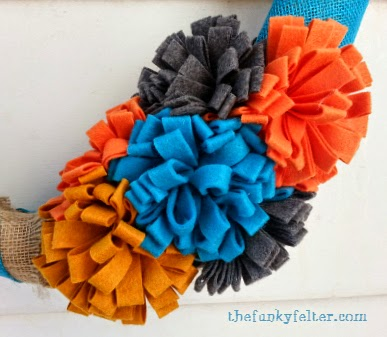 The Funky Felter Handmade Sewn Felt Flowers Craft Tutorial