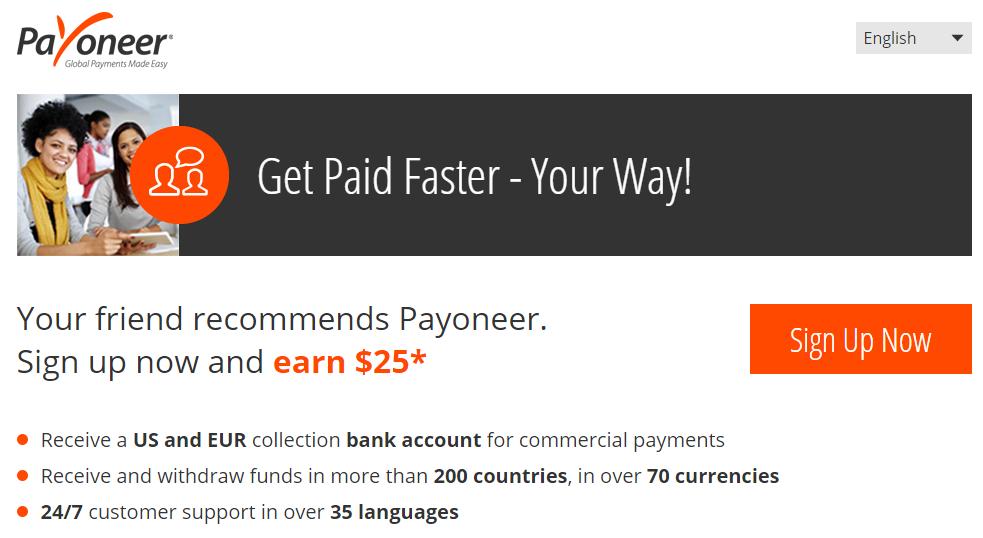 Nhận ngay $25 khi đăng ký thẻ Payoneer Mastercard