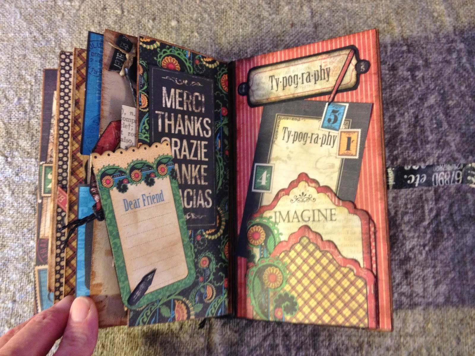 Annes Papercreations Graphic 45 Typography Junk Journal