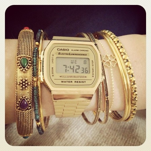 Casio Fashion Golden Watch