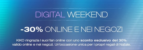 KIKO - Digital Weekend -30%
