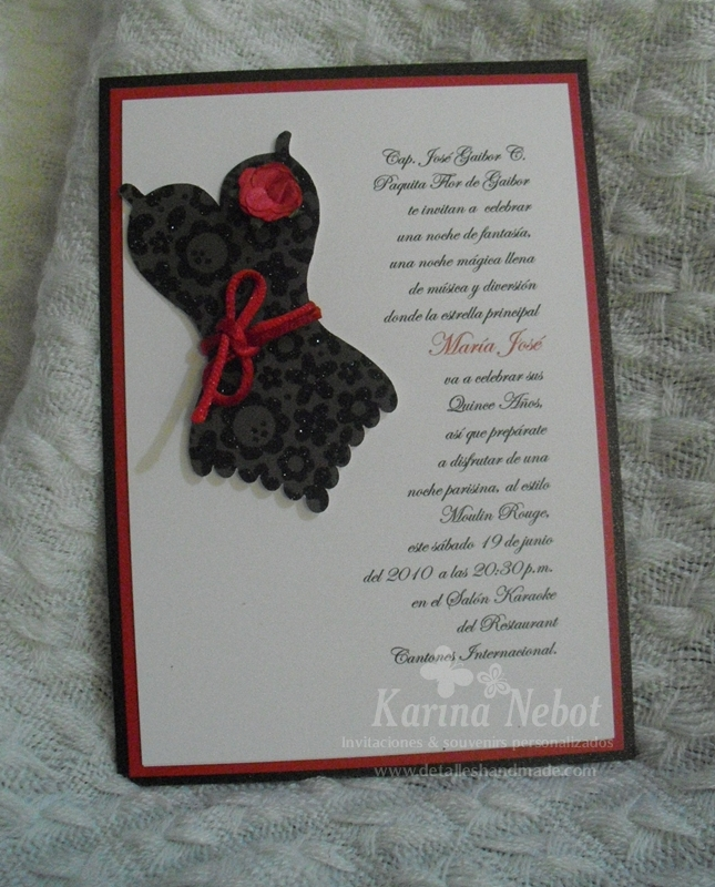 Paper Creations by Karina Moulin Rouge Invitations