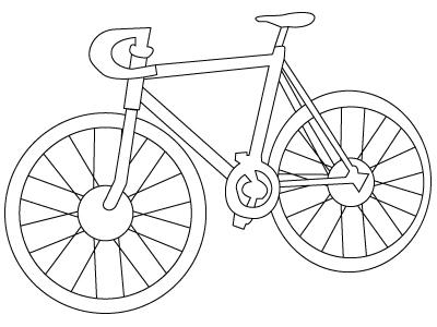 Unique Comics Animation Free Bikes Coloring Pages