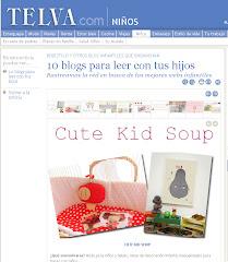 TELVA Niños eligio este blog...