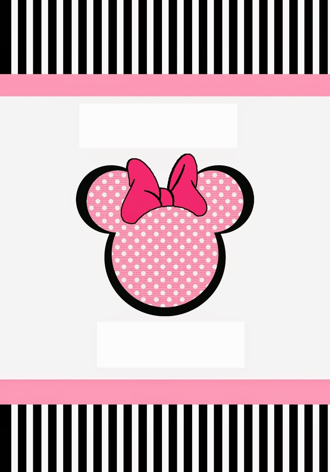 Funny Pink Minnie Mouse Free Printable Kit. | Oh My Fiesta ...