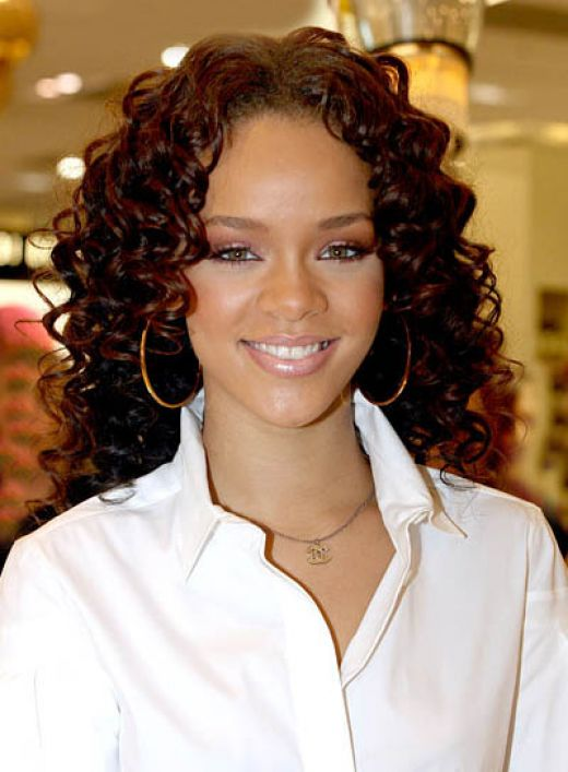 rihanna short hair. short natural