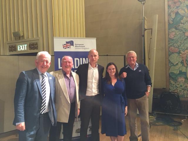 Gwynoro with Stephen Kinnock, Paddy Ashdown and Dafydd Wigley at European Movement UK event
