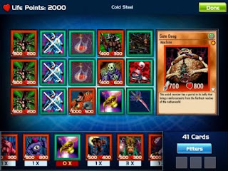 Screenshots of the Yu-Gi-Oh! Bam Pocket for Android tablet, phone.