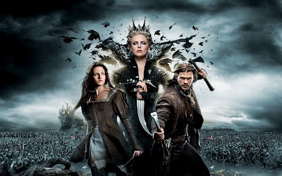 Kristen Stewart Charlize Theron  Snow White and The Huntsman Poster HD Wallpaper
