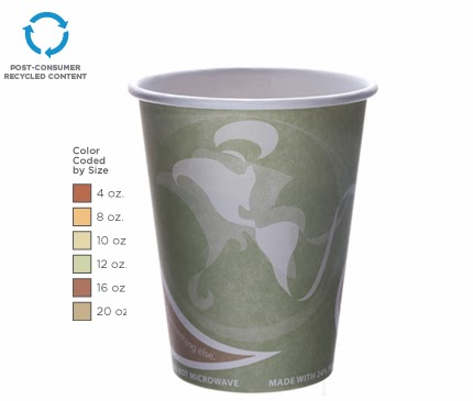 BlueStripe Hot Cup by Eco-Products