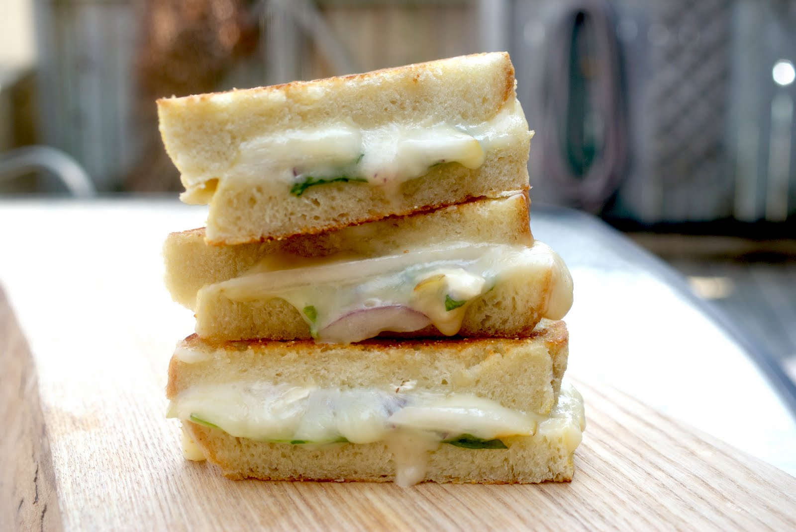 Brie, Pear, And Mustard Grilled Cheese Recipes — Dishmaps