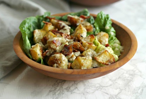 Roasted Potato and Bacon Caesar Salad