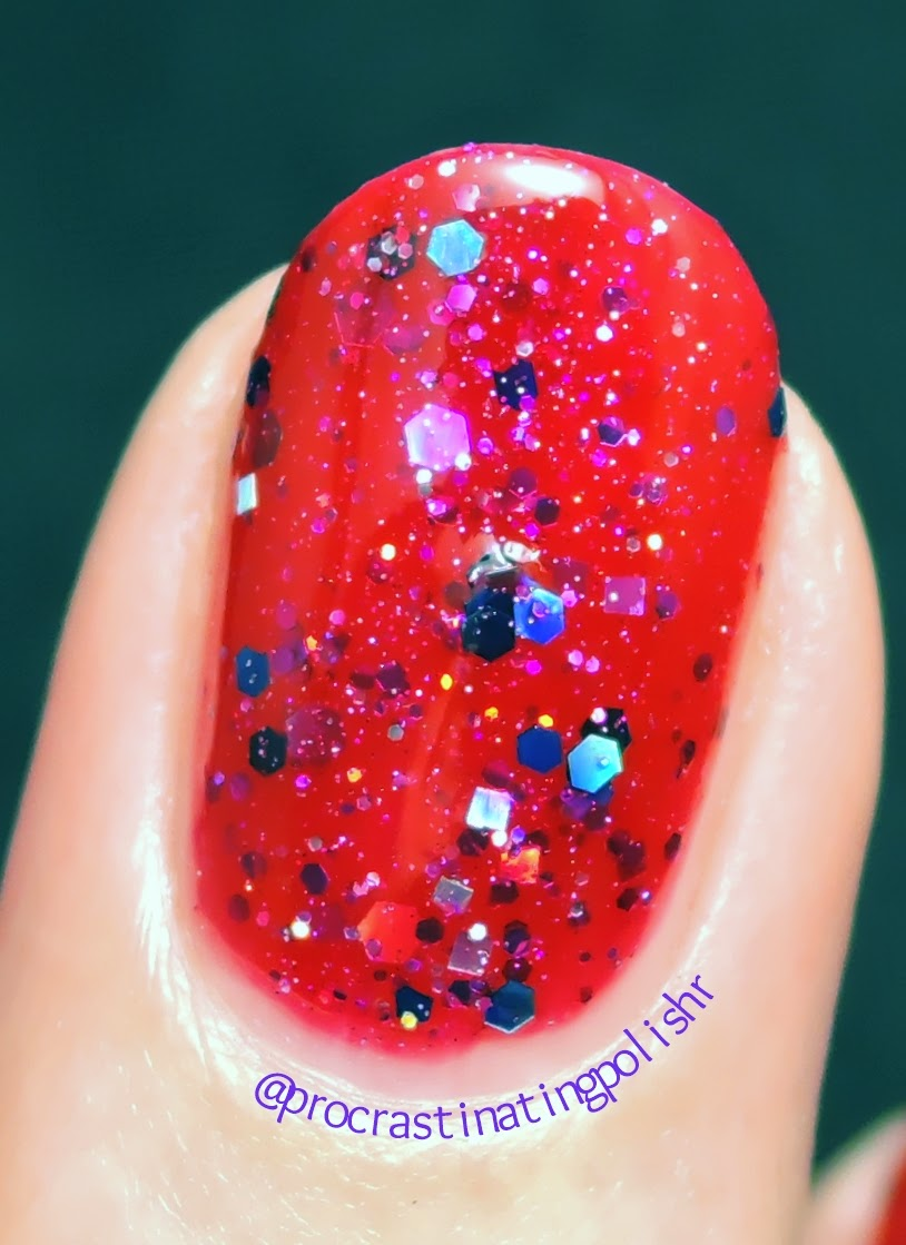 Gloss n Sparkle - Rose Madder | Swatch/Macro