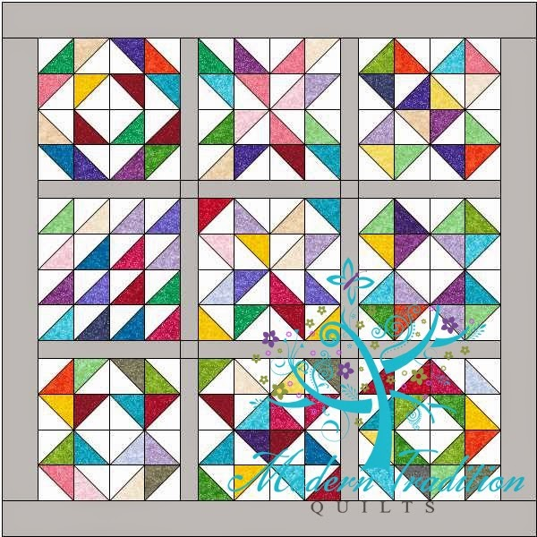 Modern Tradition Quilts: Charm Square Quilt Along 2015 Block Links