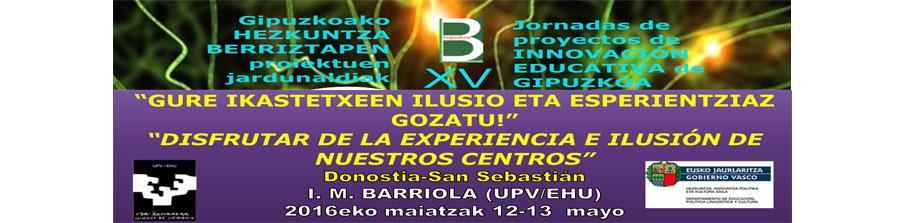 Gipuzkoako Berriztapen Jardunaldiak <br> Jornadas de Innovación de Gipuzkoa