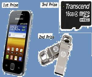 Get a chance to Win Brand New Mobile Phone(Galaxy y) and other prizes
