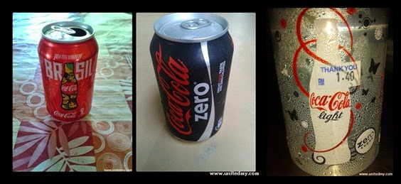 Coca-Cola Light vs Coca-cola Original Red vs Coca-cola Zero