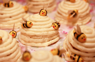 Mini honey and lemon beehive cakes