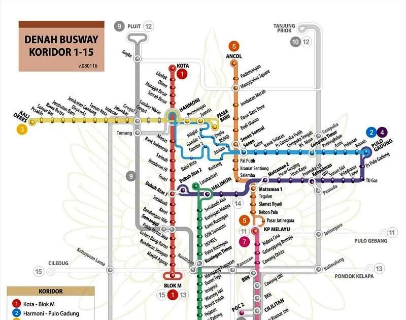 Gold Oriole Rute Busway Transjakarta