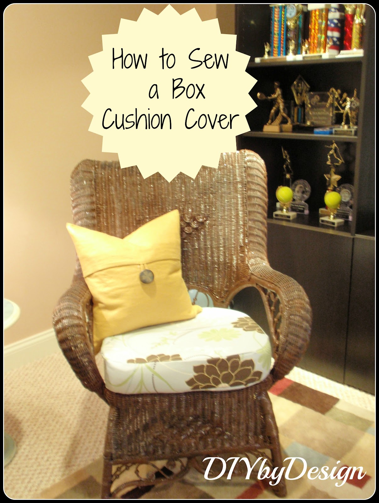 diy by design how to sew a box cushion cover