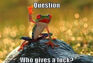 Question : who gives a fu*k - Frog - Funny photo comments
