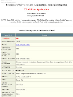 sony trademark the order 1886 Sony Files New Trademark For Something Called The Order: 1886