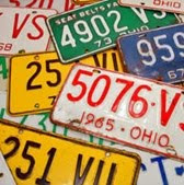 Reading Road Trip License Plate Collection