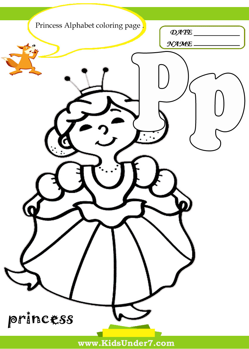 Kids Under 7 Letter P Worksheets and Coloring Pages – Letter P Worksheets for Kindergarten