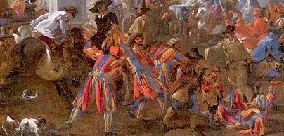 Carnival in the Piazza Colonna, Rome, Jan Miel, 1645.