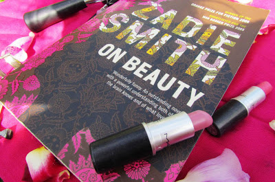 book and a cuppa, bookandacuppa, book&cuppa, Book & a Cuppa, On Beauty, MAC, lipstick, Zadie Smith, photograph, book cover, design, review, pretty, literature, paperback, summer, reading, race
