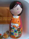 A boneca do cabeçalho do blog foi feita por Belle Bellica